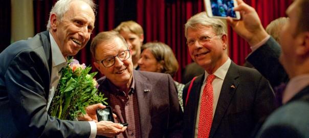 Jan Wolter Wabeke bij boekpresentatie Homo Politicus
